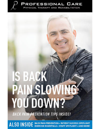 Is back pain slowing you down?